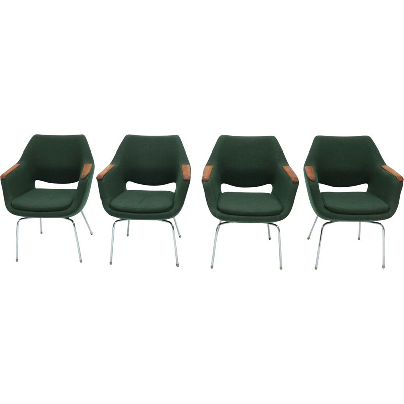 Set of 4 vintage Kilta Chairs by Olli Mannermaa for Martela 1960s