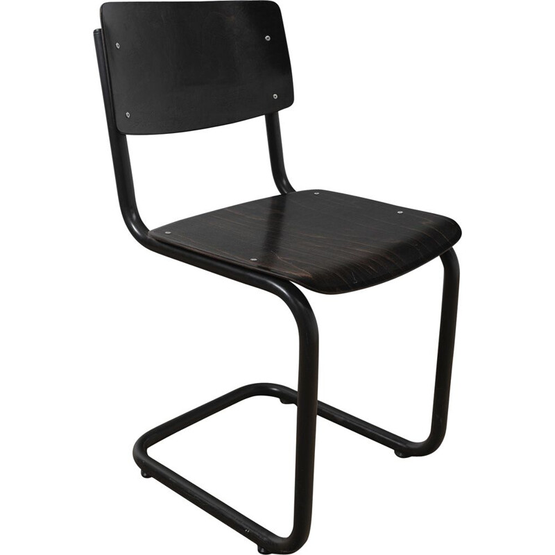 Vintage industrial chair with tubular structure
