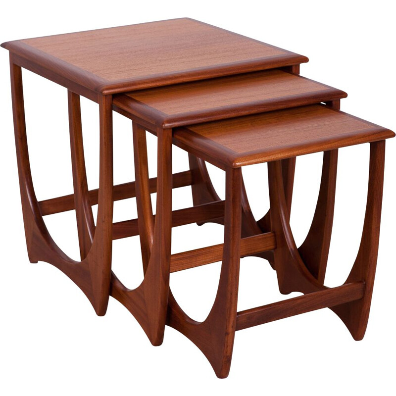 Vintage Teak Nesting Tables by V. Wilkins for G-Plan, 1970s