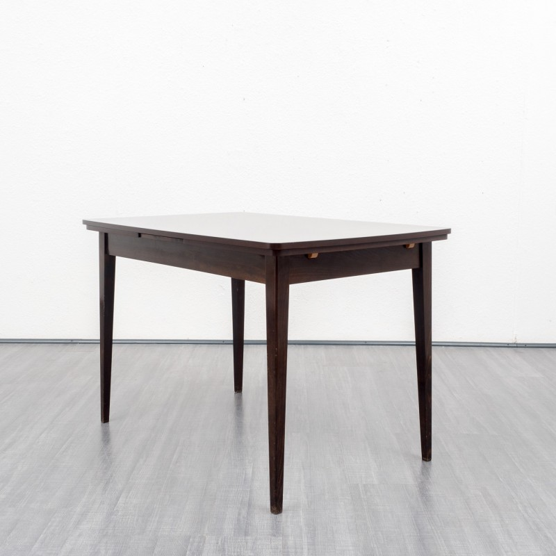 Extendible Dining Table In Dark Beech Wood S Design Market - Extendable beech dining table