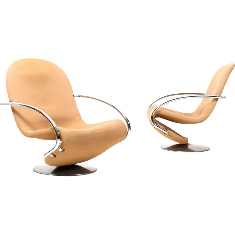 Pair of vintage Lounge Chairs by Verner Panton 1970s