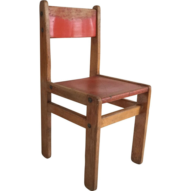 Vintage Jean Prouvé children's chair 1970s