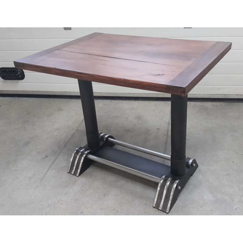 Industrial Table In Wood And Metal 1950s Design Market