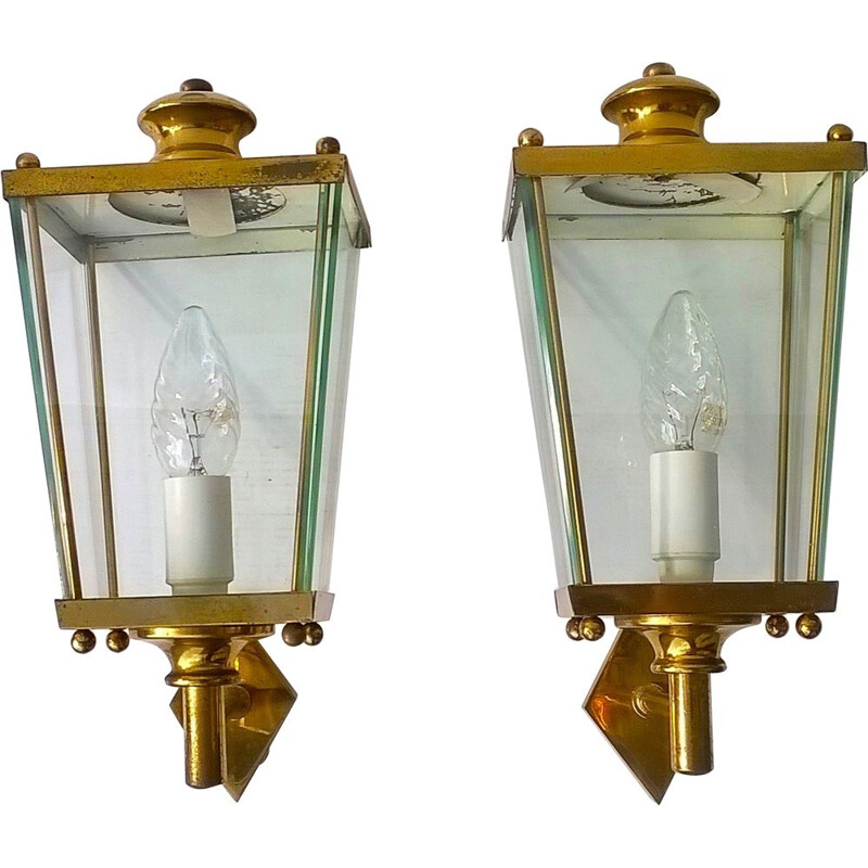 Pair of vintage sconces by Pietro Chiesa for Fontana Arte, 1950s