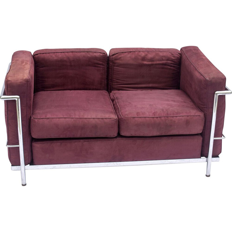 Vintage Le Corbusier Cassina Sofa by Charlotte Perriand and Pierre Jeanneret 1927