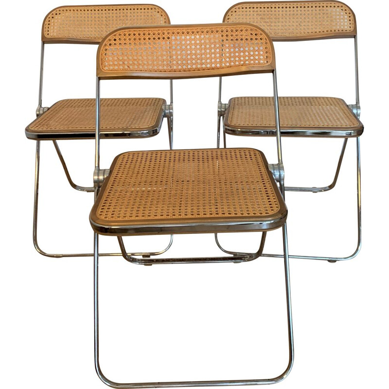 Set of 5 vintage Plia chairs by Giancarlo Piretti for Castelli 1967