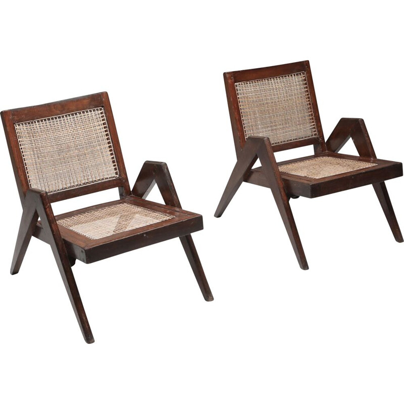 Pair of vintage Easy Chairs by Pierre Jeanneret 1955