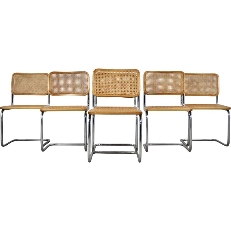 Set of 6 vintage B32 chairs by Marcel Breuer