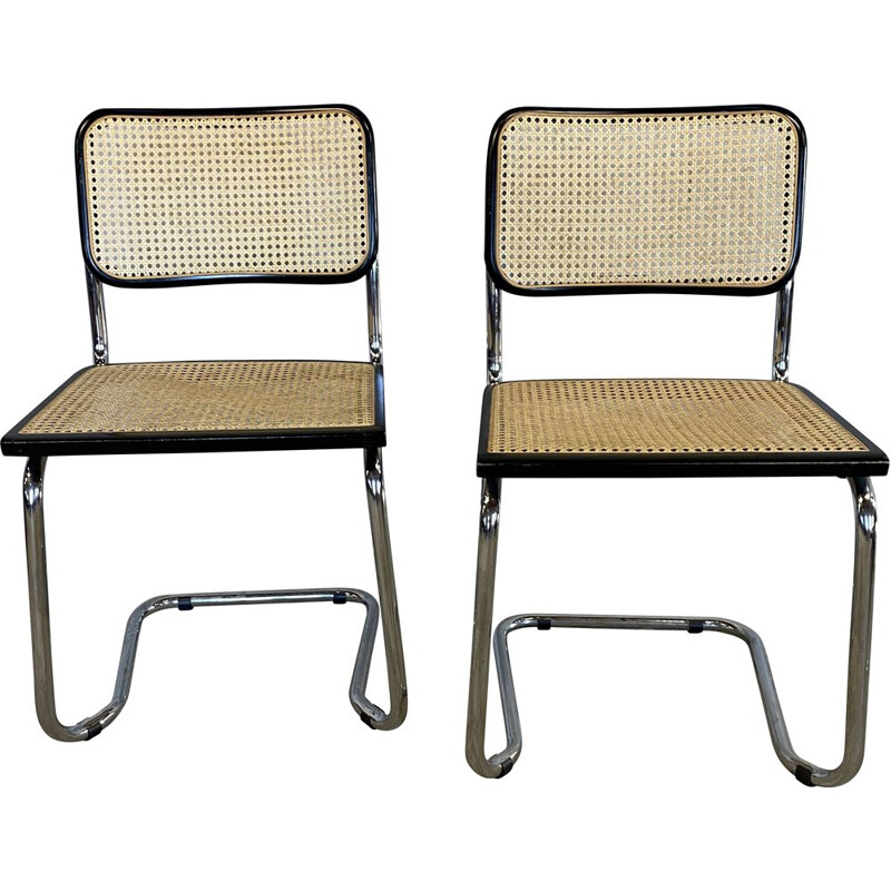 Pair of vintage B22 chairs by Marcel Breuer