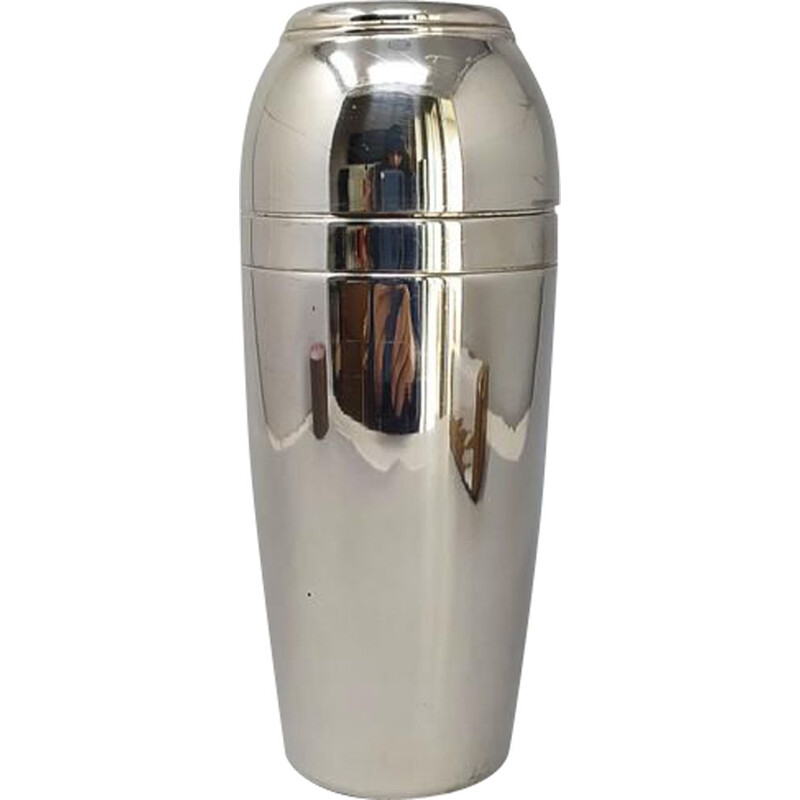 Vintage Space Age Mepra Cocktail Shaker in Stainless Steel, Italy 1960