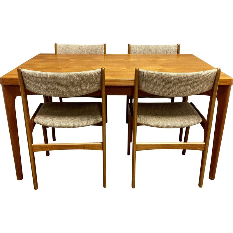 Vintage table and chairs set Scandinavian 1950s