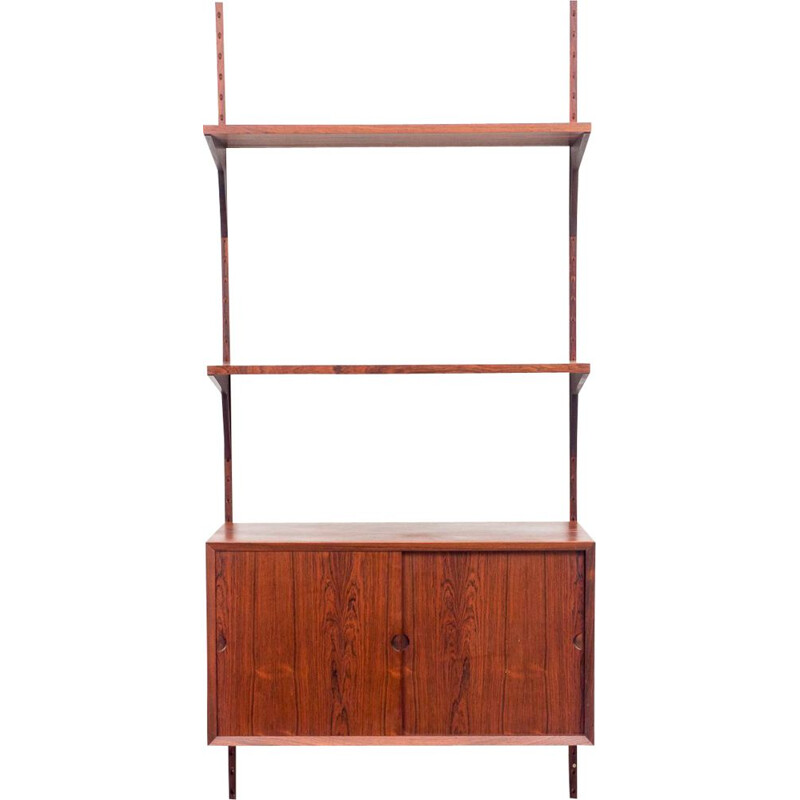 Vintage shelf system, cabinet and 2 shelves rosewood Poul Cadovius Danish 1960s