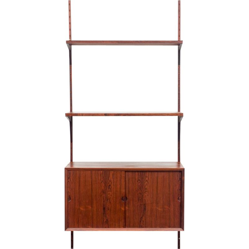 Vintage shelf system with shelves and cabinet rosewood  Poul Cadovius Danish 1960s