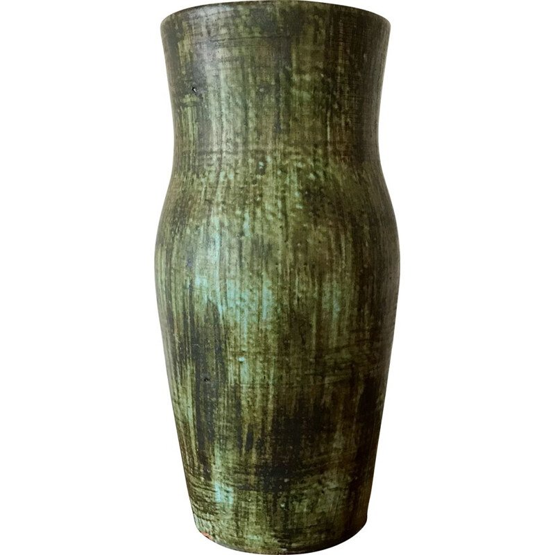 Vintage ceramic vase Accolay 1960s