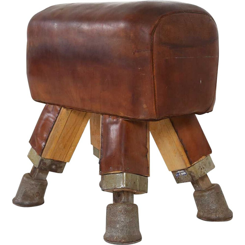 Vintage Early leather pommel horse 1920s