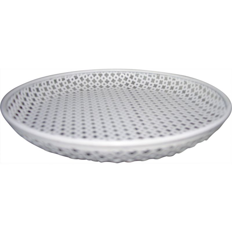 Vintage perforated metal tray by M Matégot 1960s