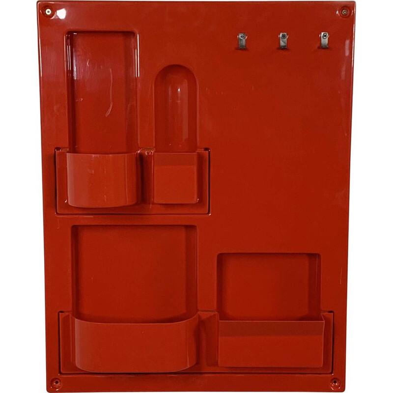Vintage Red Wall Storage System 1970s