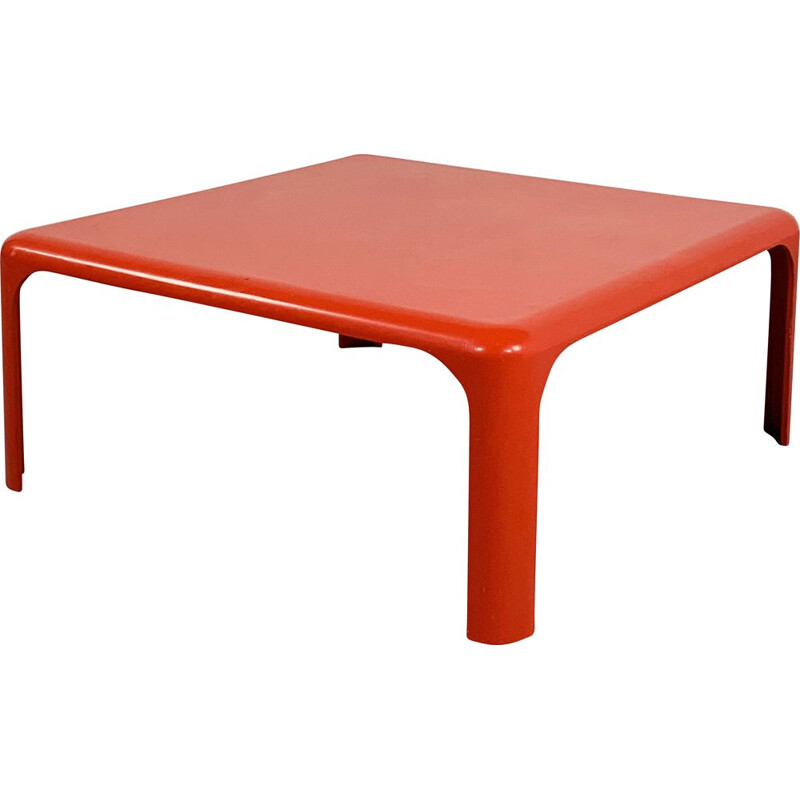 Vintage Red Demetrio Coffee Table by Vico Magistretti for Artemide 1960s
