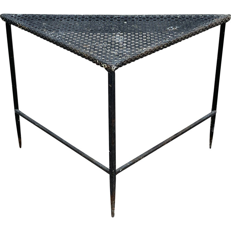Viintage triangle coffee table by Mathieu Matégot 1950s