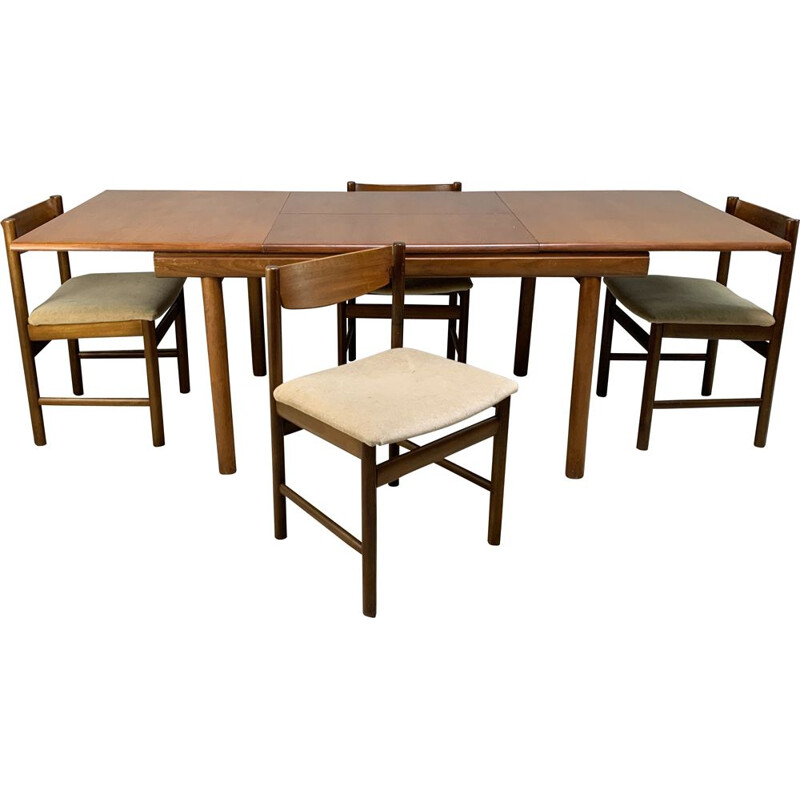 Vintage dining table and 4 chairs by White & Newton 1960s