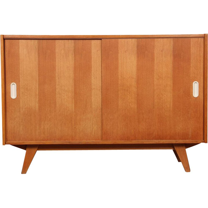 Vintage chest of drawers with sliding doors by Jiri Jiroutek 1960s