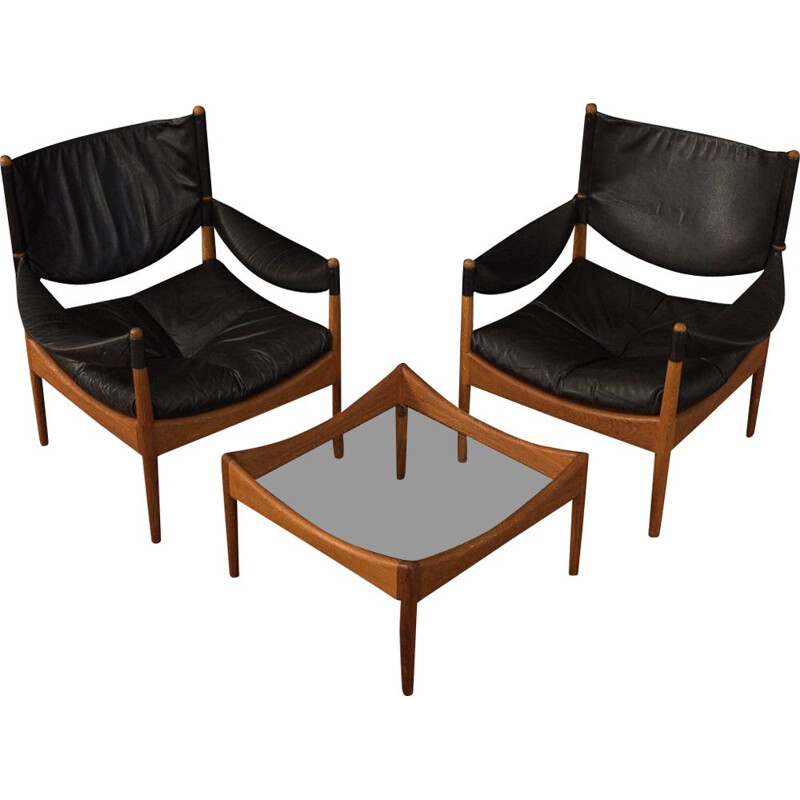 VIntage Seating Group by Kristian Solmer Vedel 1960s