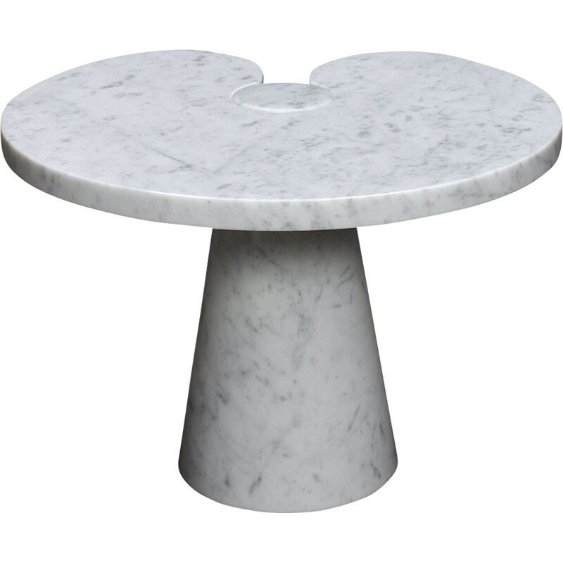 "Vintage ""Eros"" side table in white Carrara marble by Angelo Mangiarotti for Skipper, Italy 1970s"