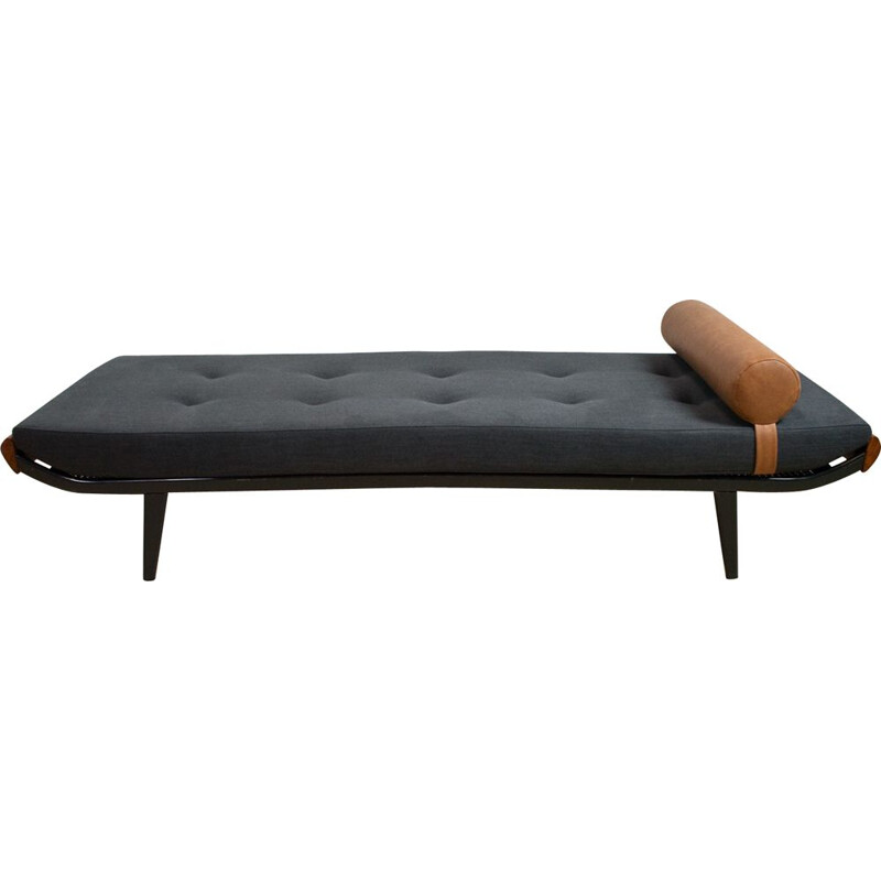 Vintage Cleopatra daybed by Andre Cordemeijer in black, Dutch 1953s