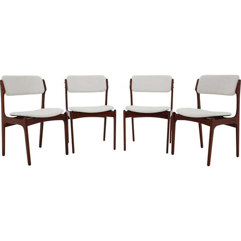 Set of 4 vintage teak chairs by Erik Buch, Denmark 1960