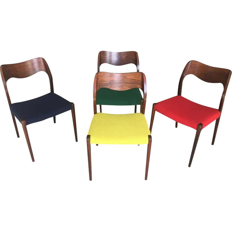 Set of 4 vintage chairs by Niels Otto Moller 1951