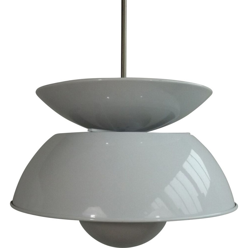 Vintage Cetra pendant lamp by Vico Magistretti for Artemide 1965