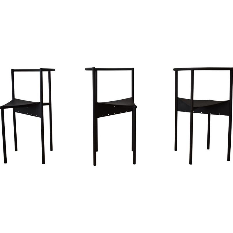 Lot of 3 vintage Wendy Wright chairs by philippe Starck for Disform 1980s
