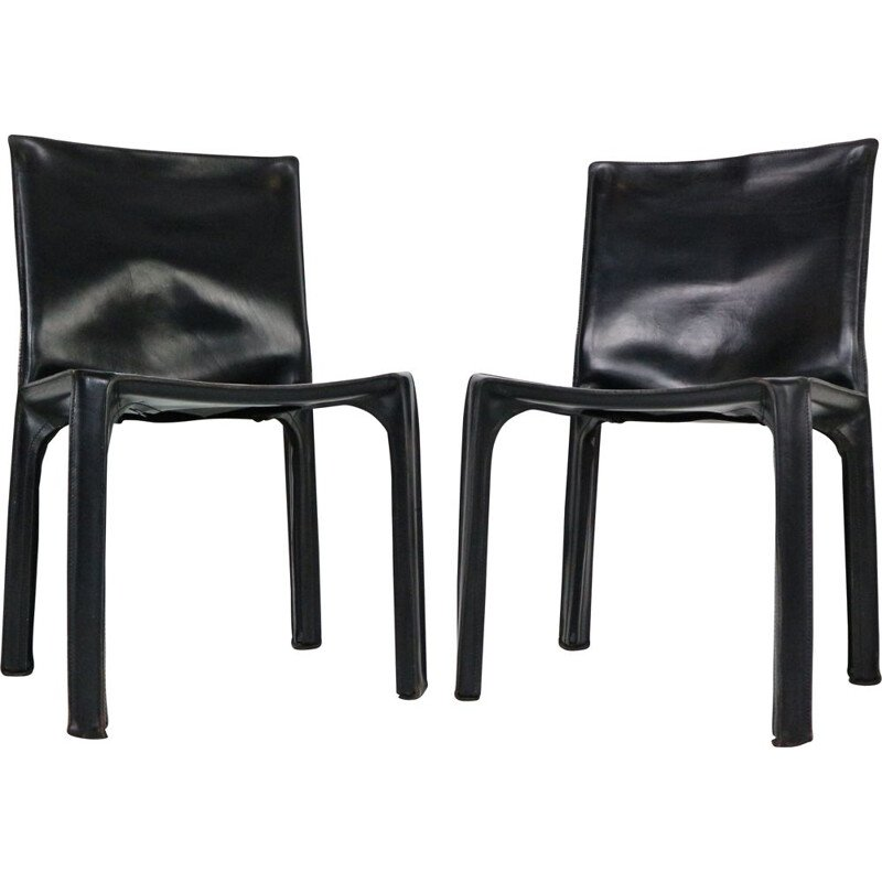 Pair of vintage room chairs Early by Mario Bellini 1970s