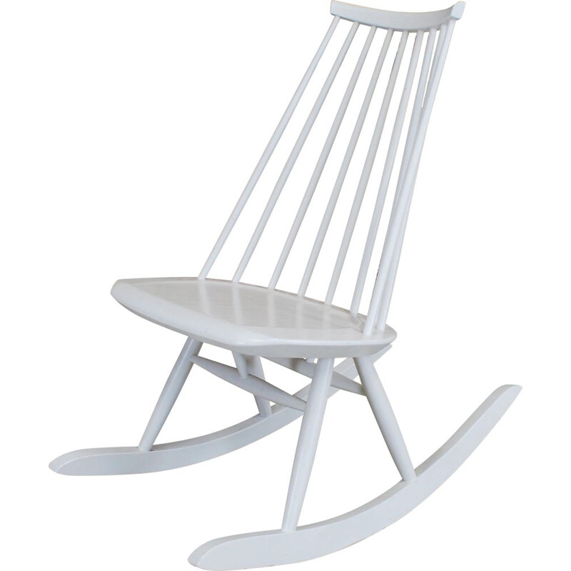 Vintage Mademoiselle rocking chair by Ilmari Tapiovaara 1956s