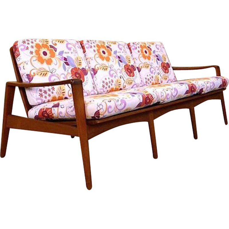 Komfort three-seater sofa in teak, Arne WAHL IVERSEN - 1960s