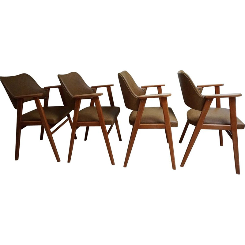 Set of 4 Midcentury dining chairs by Cees Braakman for UMS Pastoe, Netherlands 1950s