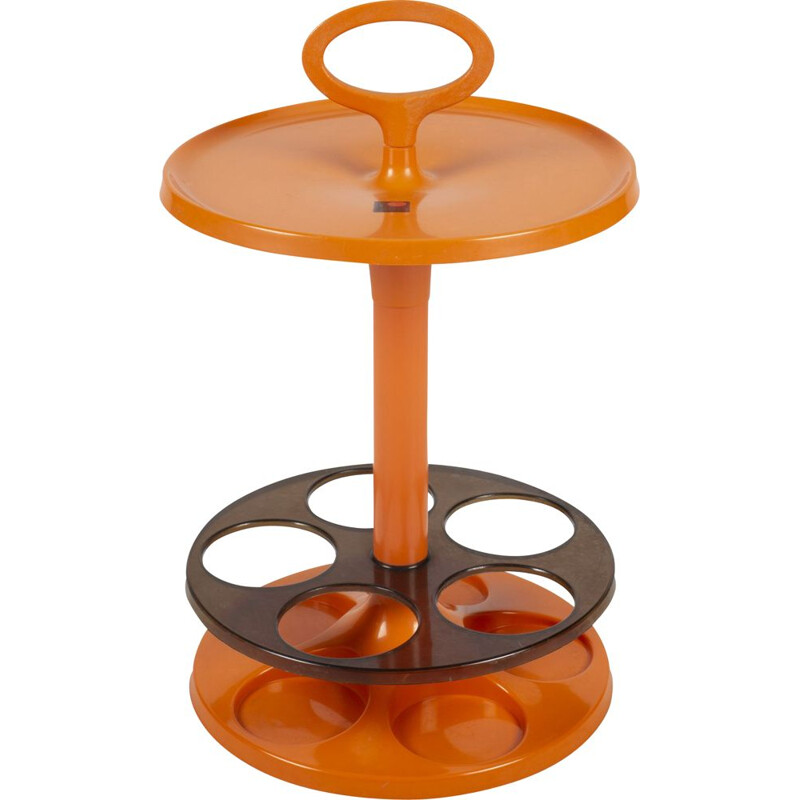 Vintage Orange Flair Bar Table
