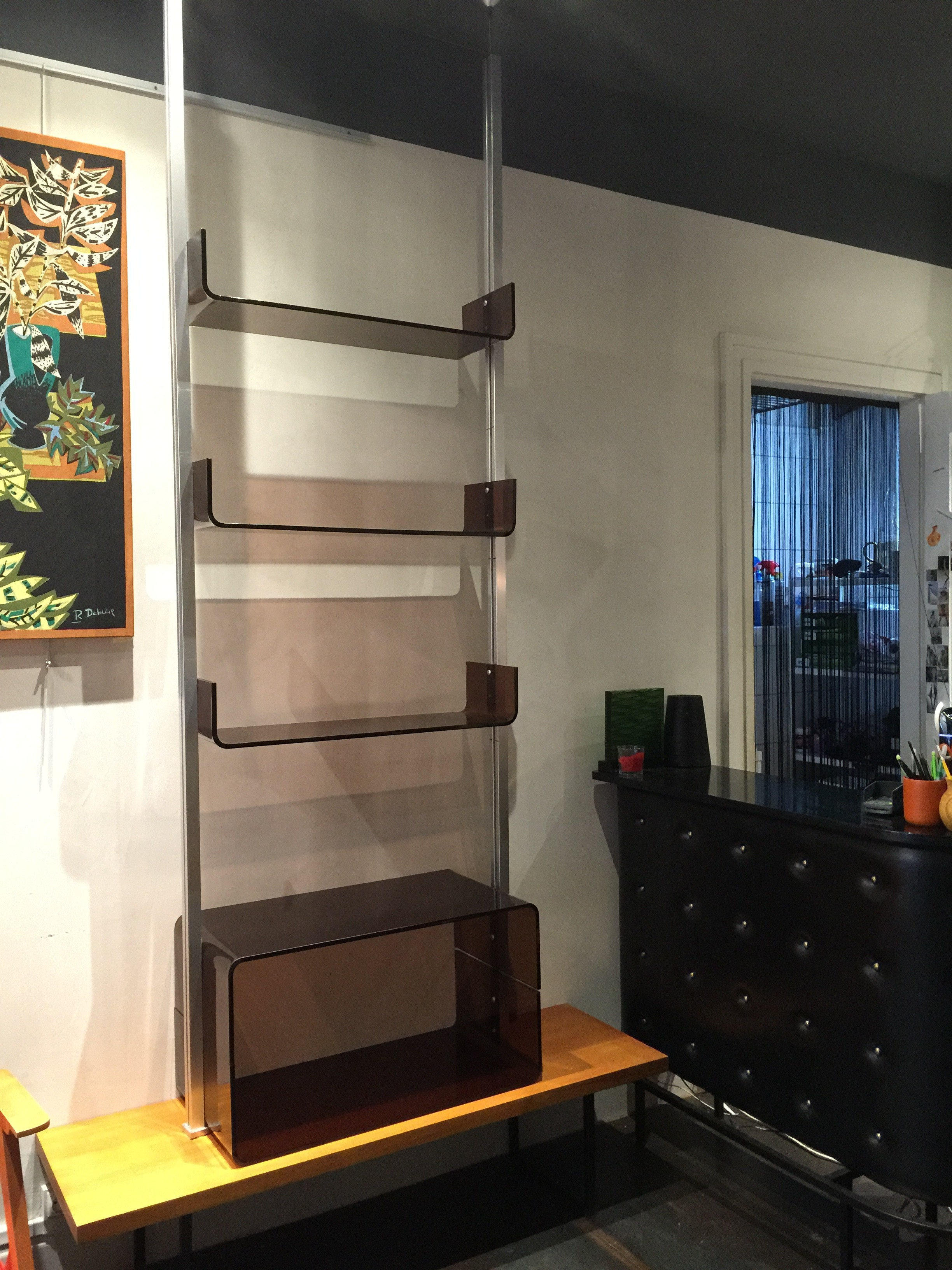 La Roche Bobois Bookcase In Smoked Plexiglass 1970s Design Market # Etagere Vintage Plexiglas