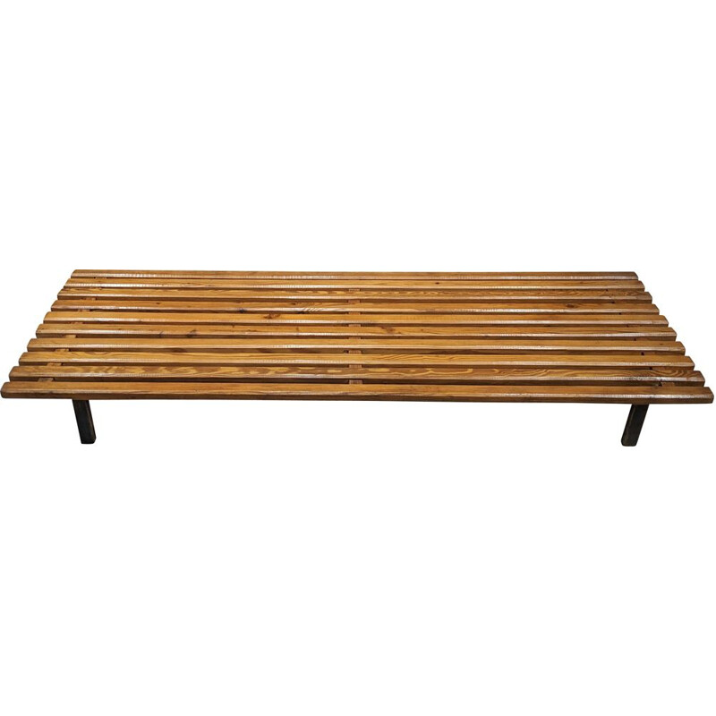Vintage Cansado bench by Charlotte Perriand 1954s