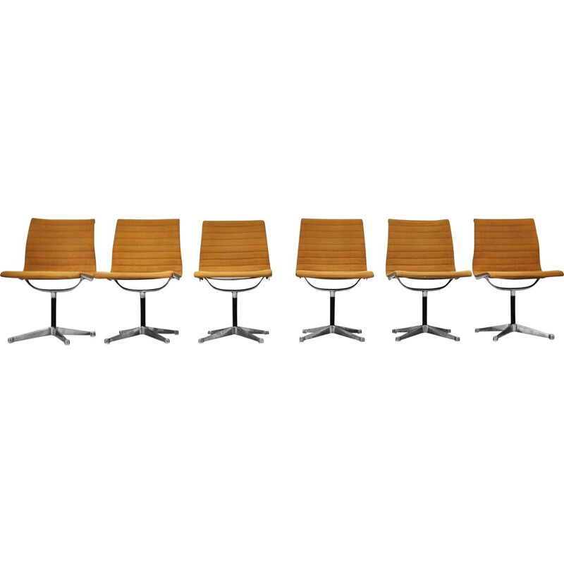 Set of 6 vintage EA108 Chairs by Charles & Ray Eames For Herman Miller 1970s