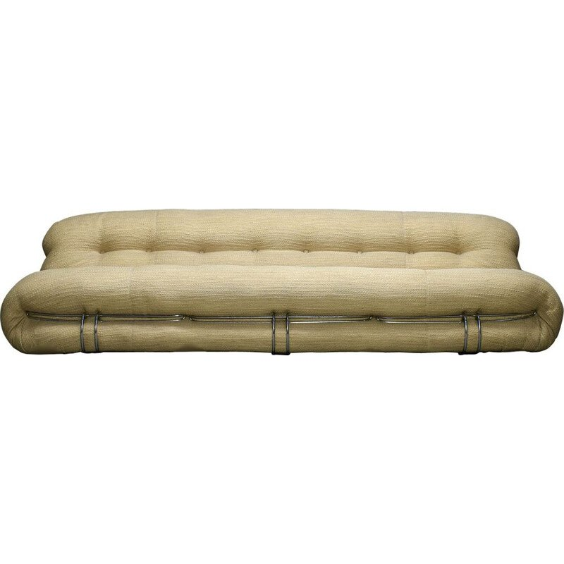 Large vintage Soriana sofa by Afra & Tobia Scarpa for Cassina, Italy 1970s