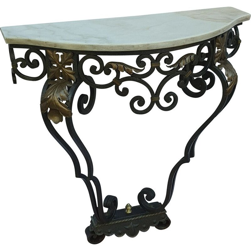 Vintage wrought iron console