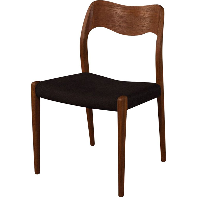 Vintage Dining Chairs by Niels O. Moller 1950s