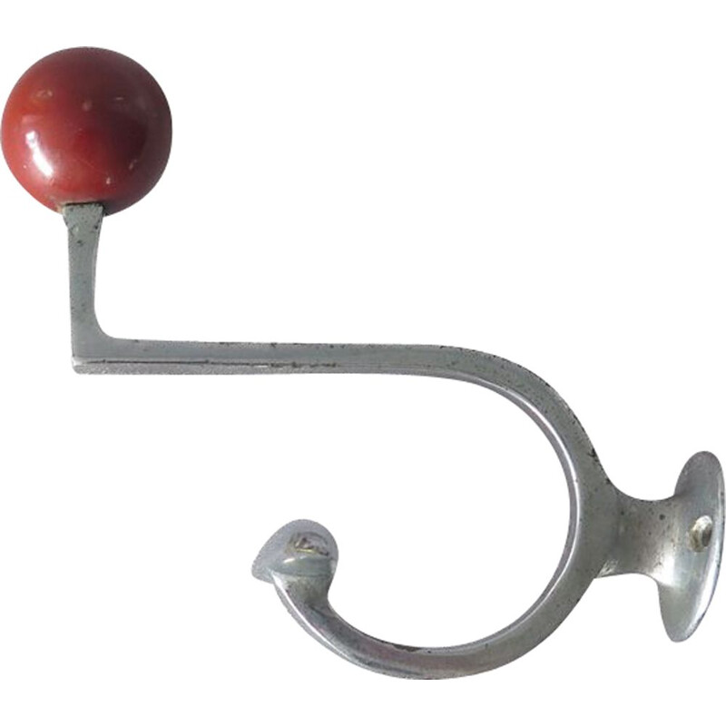 Vintage Metal coat hanger with resin ball 1950s