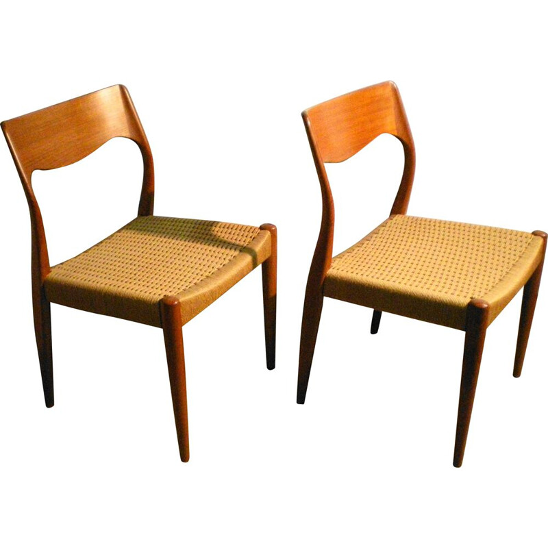 Pair of Niels Otto Moller Danish Vintage Chair 1960