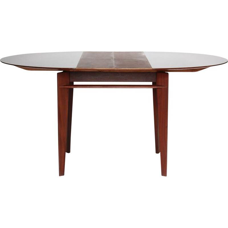 Vintage Extendible Dining Table in Teak by Vittorio Dassi 1950s