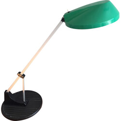 Anglepoise green desk lamp in iron and plastic - 1970s