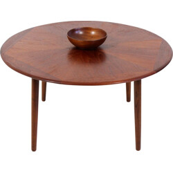 Bramin Møbler coffee table in rosewood with geometric pattern, H W KLEIN - 1960s