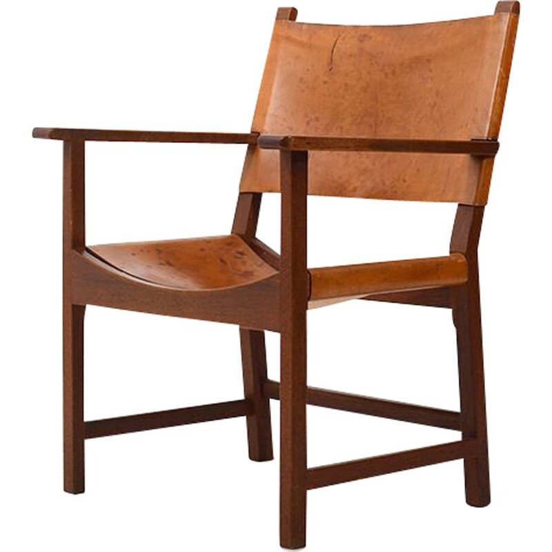 Vintage Teak Armchair by Mogens Lassen for Thorald Madsen, Danish 1953s