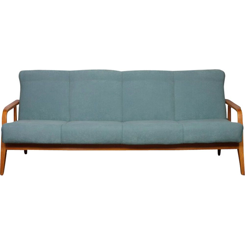 Vintage convertible sofa Czech 1960s
